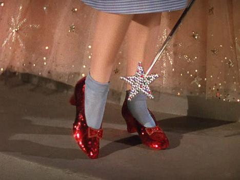 dorothy wizard of oz red shoes