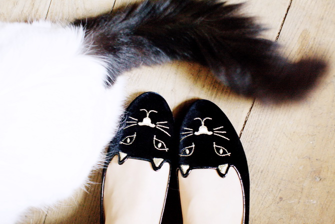 DIY Charlotte Olympia Kitty Flats