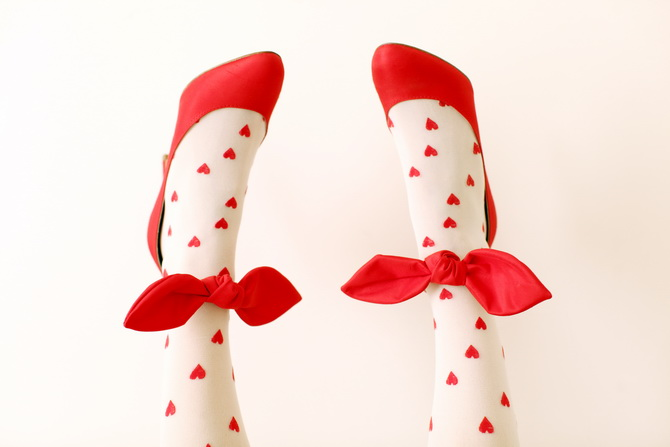 Carven red bow ties shoes