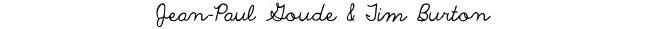 Jean-Paul Goude & Tim Burton