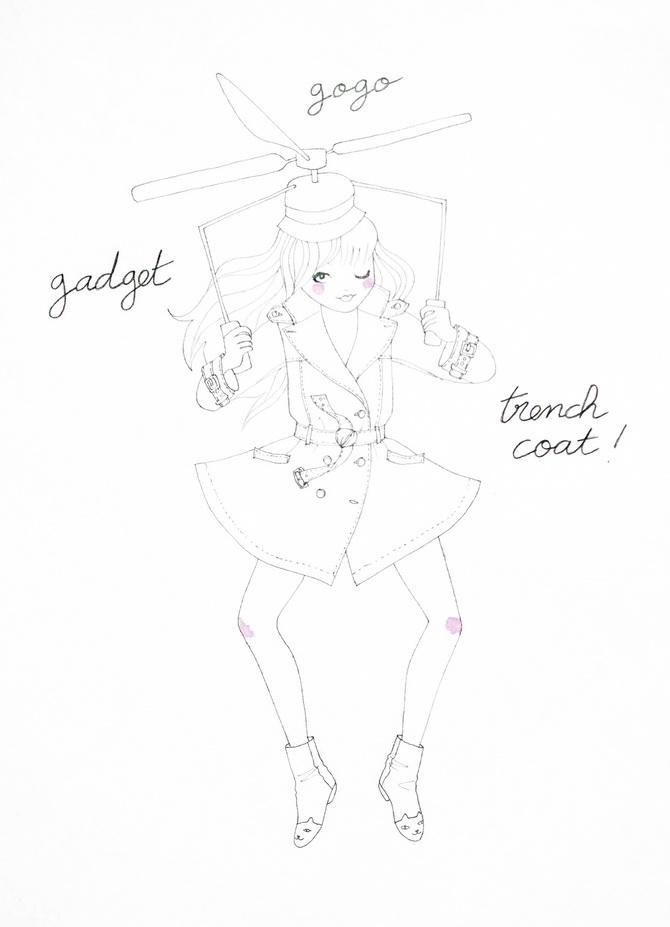 inspector gadget gogo trench coat