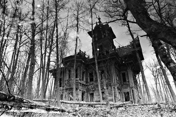 Sazonov house. Built in the 1890s in Ostashevo, Chuchloma, Kostroma region of Russia Post-Revolution