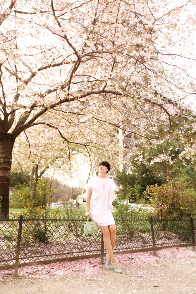 The Cherry Blossom Girl - Blossoms at the Eiffel Tower 01