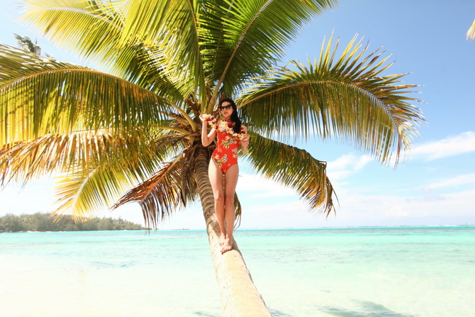 The Cherry Blossom Girl - Somewhere over the rainbow Tahiti 24