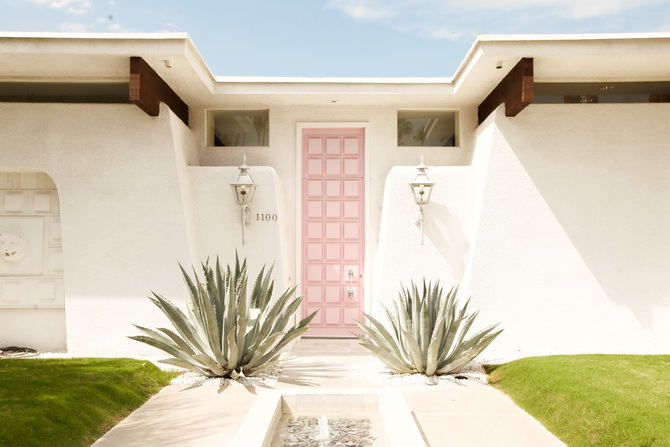 The Cherry Blossom Girl - Palm Springs Pink Door 14