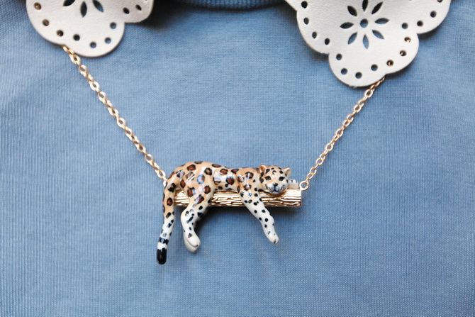 The Cherry Blossom Girl - Nach Bijoux leopard Necklace 01