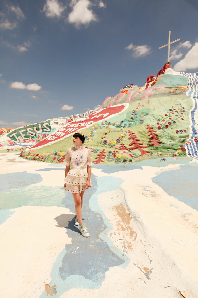 The Cherry Blossom Girl - Salvation Mountain 01