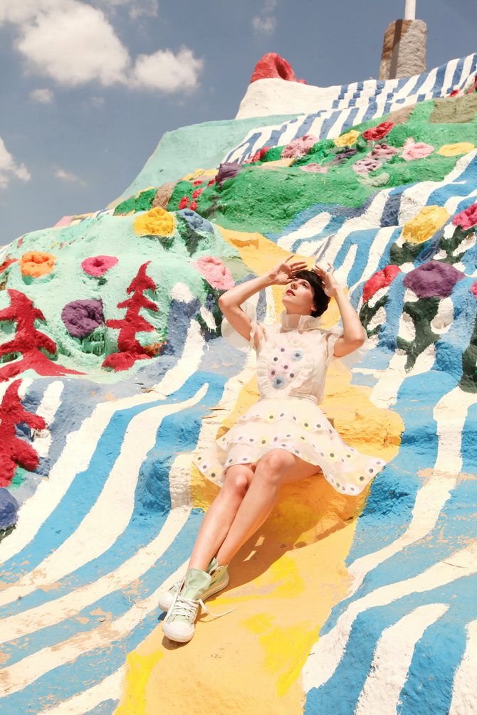 The Cherry Blossom Girl - Salvation Mountain 04