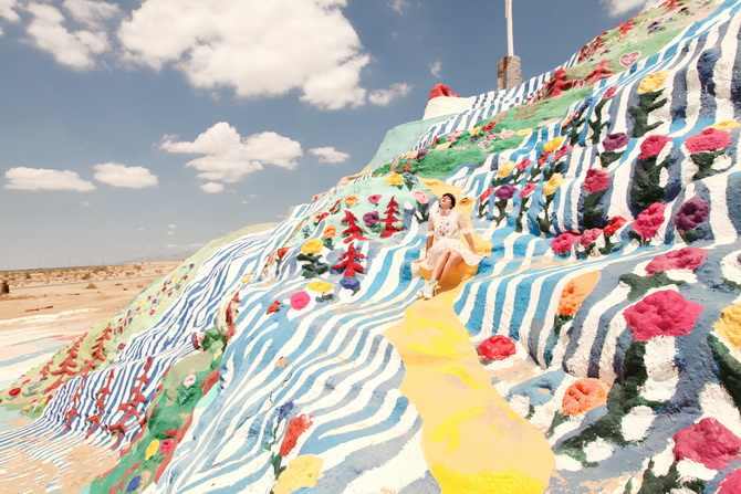 The Cherry Blossom Girl - Salvation Mountain 05