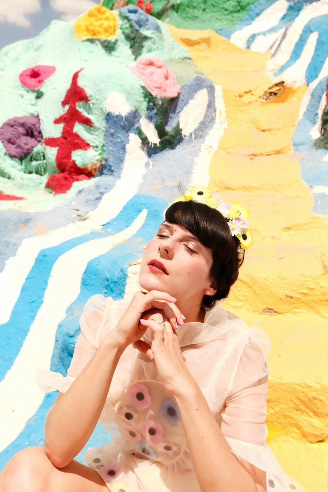 The Cherry Blossom Girl - Salvation Mountain 06