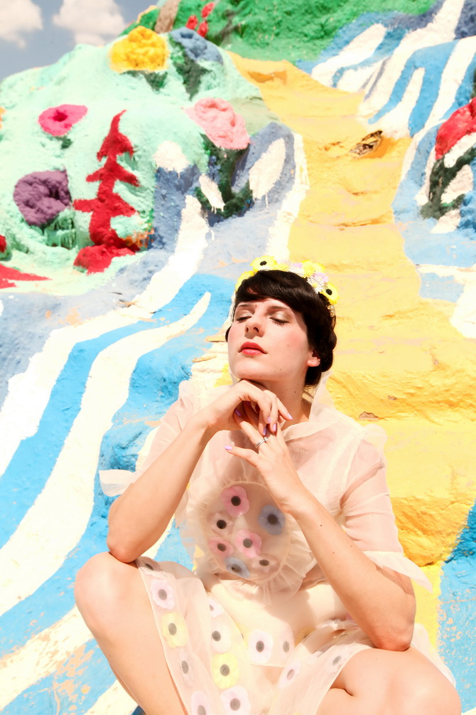 The Cherry Blossom Girl - Salvation Mountain 07