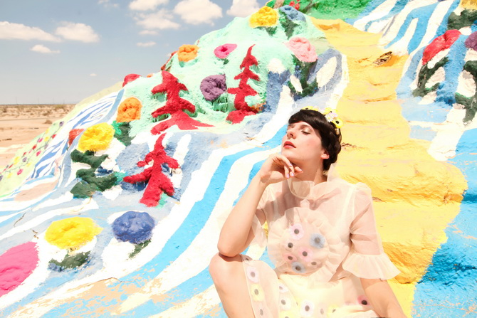 The Cherry Blossom Girl - Salvation Mountain 08