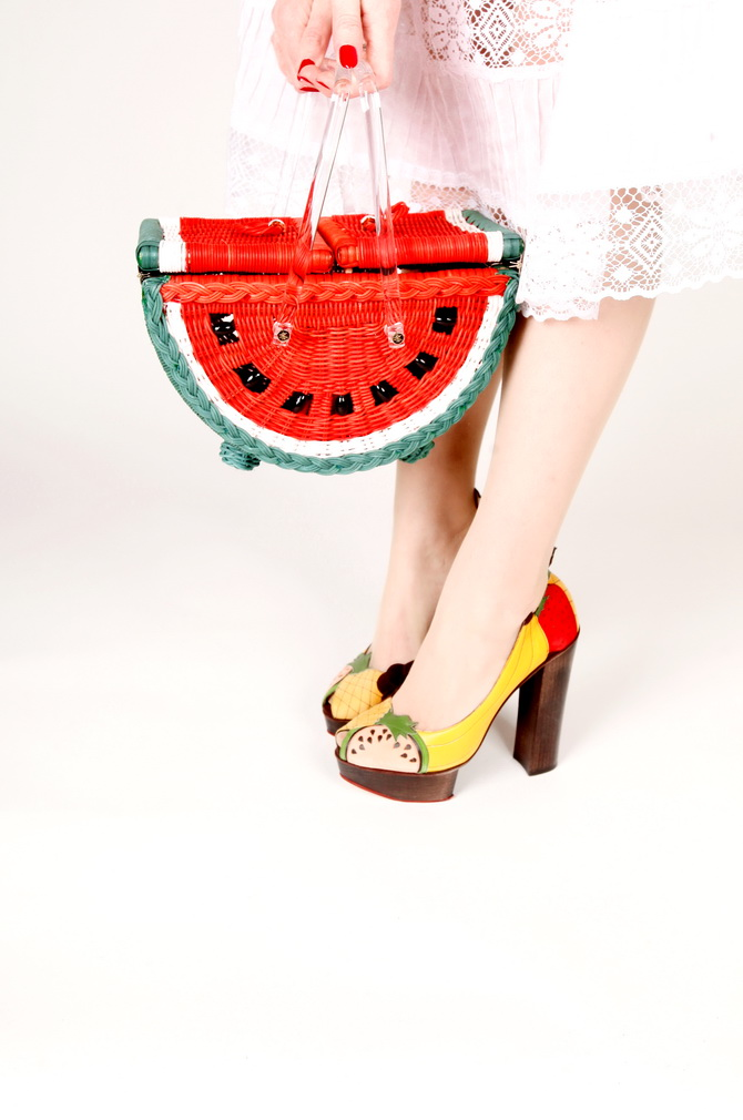 The Cherry Blossom Girl - Charlotte Olympia Watermelon Basket 01