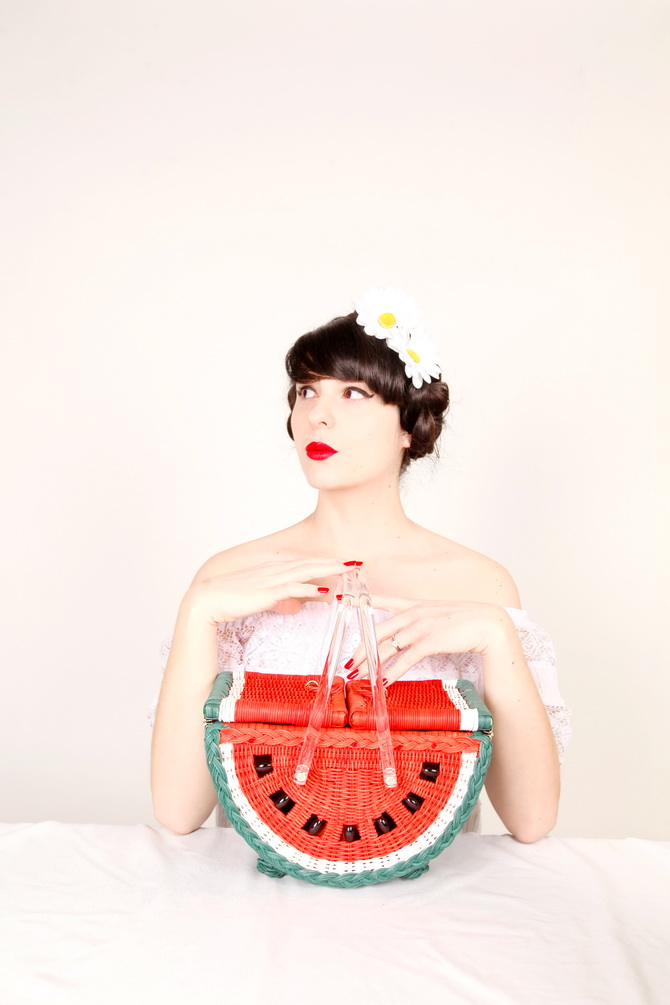 The Cherry Blossom Girl - Charlotte Olympia Watermelon Basket 03
