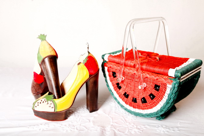 The Cherry Blossom Girl - Charlotte Olympia Watermelon Basket 06