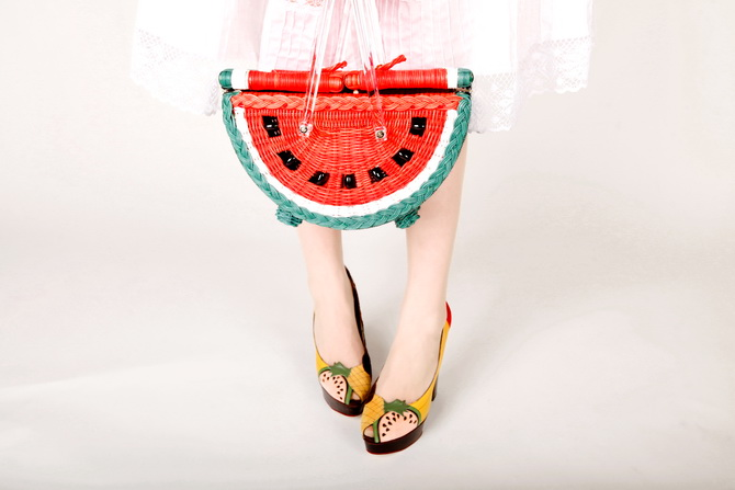 The Cherry Blossom Girl - Charlotte Olympia Watermelon Basket 08